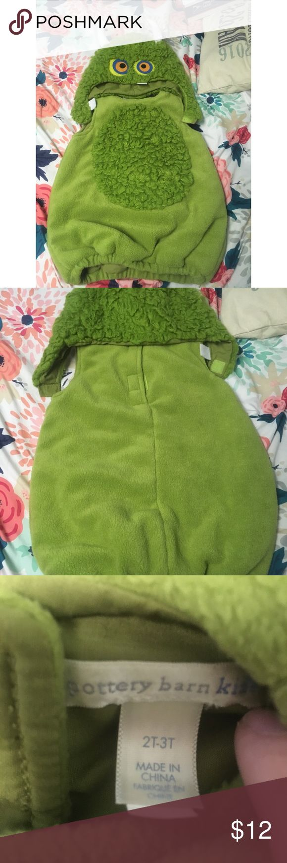 {Pottery Barn Kids} Monster Costume They're expensive brand new (even resale), bought from another mama with the intent to use Halloween 2017 but didn't realize it was 2T-3T. I thought it was just 2T. We don't have any pets but came from a home with pets before us. Only flow is a pin hole & bought it like that (see picture-doesn't affect use) will not trade, separate, hold, deliver or accept PayPal. Questions? Ask!❤️ Pottery Barn Kids Costumes Halloween