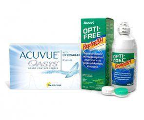 Acuvue Oasys™ 6 Stk. BC 8.4 + OPTI-FREE™ Replenish 300 ml