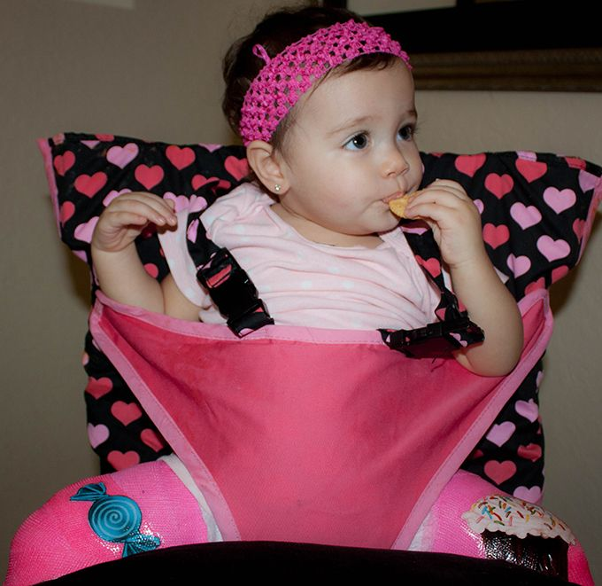 Portable High Chair For Feeding With A Spica Cast