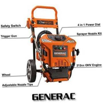 Generac 6602 4-in-1 3100PSI 2.8GPM OHV Gas Pressure Washer Review | Top Pressure Washers