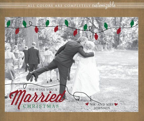 Christmas Card Lights Wedding Thank You Printable