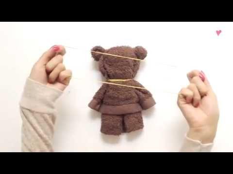 Simak yuk bagaimana cara membuat boneka beruang dari Handuk! - YouTube