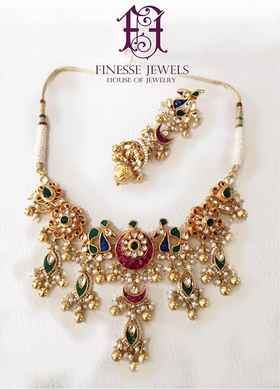 26318fb7f3e Traditional Kundan Choker Necklace Set, Kundan Choker Set, Kundan Jewelry  Set, Indian Jewelry Set ***MADE TO ORDER*** Handmade Exquisite and  Scrupulous ...