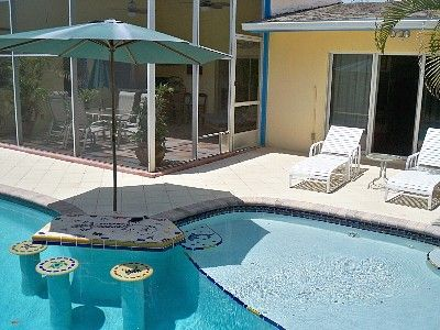 swimming pool swim up bar | CHARMING SOUTH BEACH STYLE PRIVATE POOL HOME-- RESORT LIVING