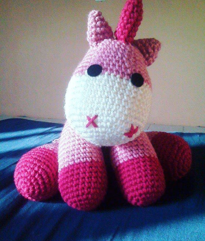 Unicorn Amigurumi Yarn Yard : My cute unicorn... Pattern by Little Yarn Friends # ...