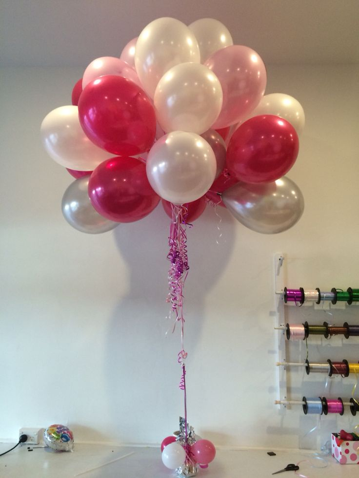Mix of magenta, pink, silver and white bouquet in the shape from the 'UP' movie. Beautiful!