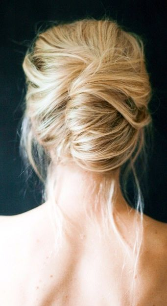 love this loose and modern french twist