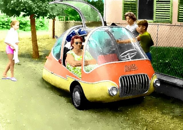Hungarian Pajtas (Buddy). Featured gullwing doors and all sorts of visibility. But its quirky shape was enough to attract attention from Popular Mechanics, which featured the car in 1960.
