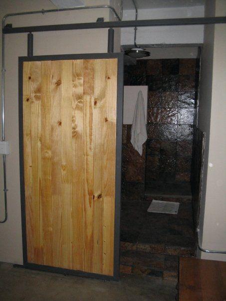 Sliding Door For Loft Bathroom In Johannesburg Hand Made