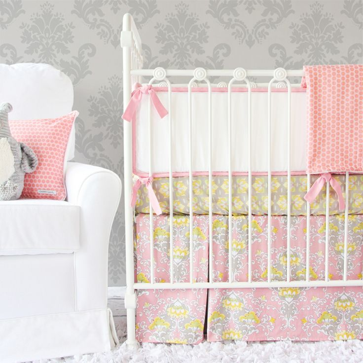 the amyu0027s garden crib bedding collection by caden lane is a pretty display of floral prints that fill your little oneu0027s room with cheerful