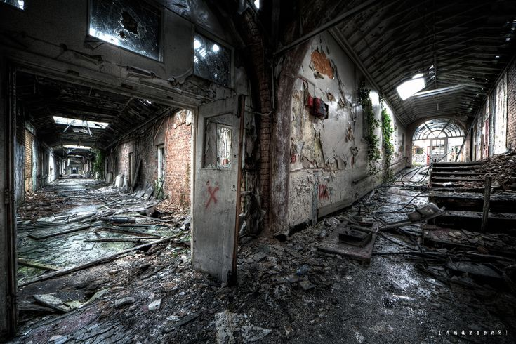 "https://flic.kr/p/9ngWXi | Horror asylum in decay | From the ""1000 miles and running"" tour. 10 urbex locations all around UK in 4 days.   In the late 1960s this mental asylum was referred to as ""Horror Hospital"" in the papers due to mistreatment of patients.  They were locked into small rooms and in outside airing courts in all weather, dragged by their hair, nurses setting fire to patients cloths and slippers, beaten etc.   On tour with <a ..."