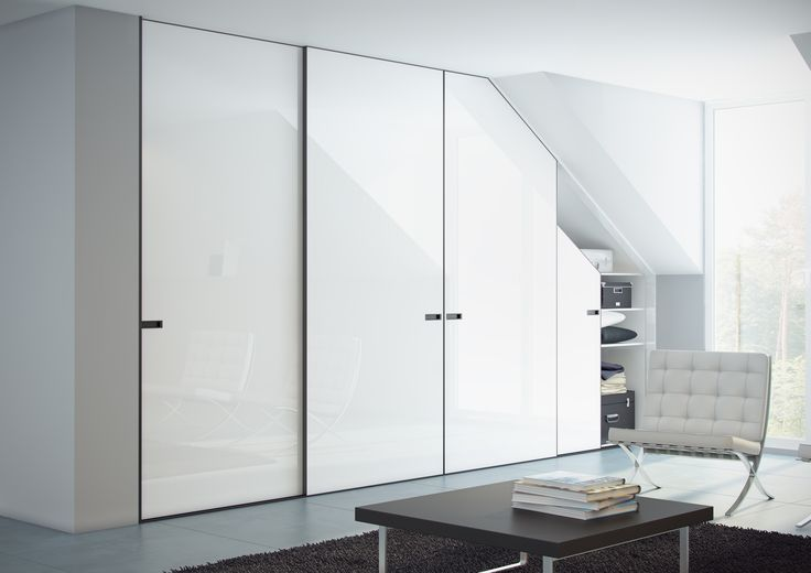 White fitted sliding mirror wardrobe doors