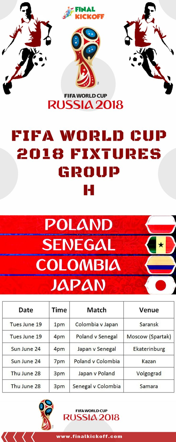 World Cup 2018 Moscow Schedule