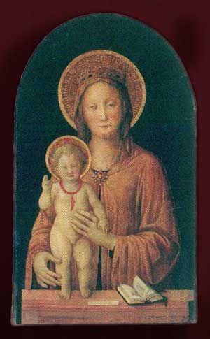 Significato del Corallo: L'Umanità di Gesù - Jacopo Bellini - Madonna col Bambino - metà del XV secolo
