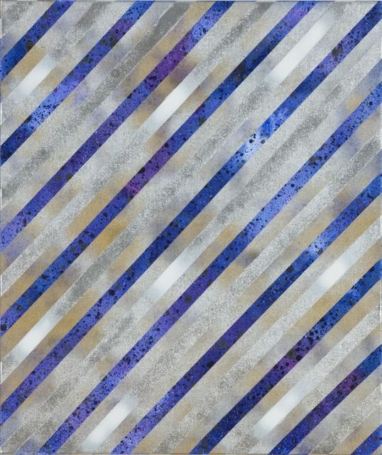 """Alberto Di Fabio """"Speed of Light no. 2"""", 2010. Acrylic on Canvas. #stripes #striped #lines #lined"""
