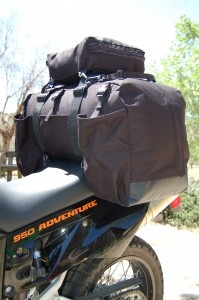 KTM 950 adventure saddled up with the ExcursionPack. (71 liters)