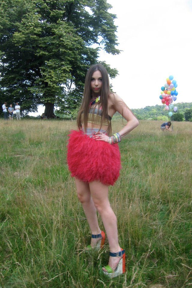 On my first Vogue Shoot in Hampstead Heath