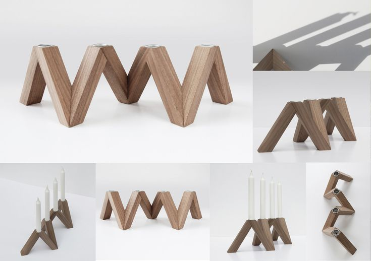 PROCLUS / By PONTUS NY. Candlestick. Limited edition in walnut wood. Manufactured to order. Made in Sweden. 2011.