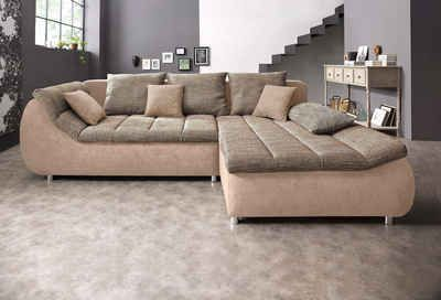 Benformato City Polsterecke, wahlweise mit Bettfunktion    #couch #sofa #ecksofa #polsterecke #wohnzimmer #inspo #interior #einrichtung #polstermöbel #möbel #schlafsofa