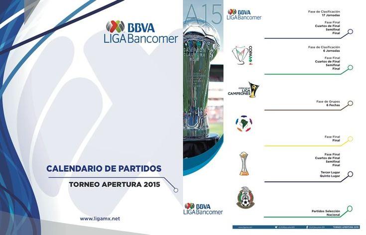 Calendario del Apertura 2015 en la Liga MX es presentado - http://webadictos.com/2015/06/08/calendario-apertura-2015-liga-mx/?utm_source=PN&utm_medium=Pinterest&utm_campaign=PN%2Bposts