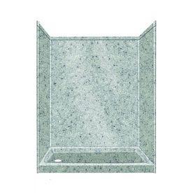 Transolid Decor Decor Matrix Dusk/Stone Compostie Wall And Floor 5-Piece Alcove Shower Kit (Common: 32-In X 60-In; Actua