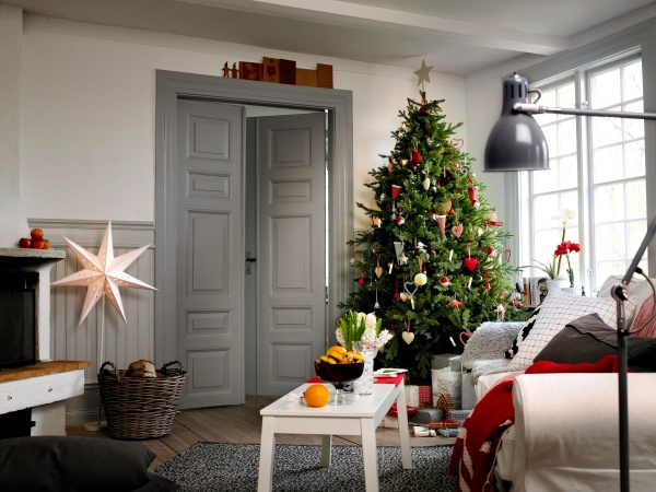 Dress The Tree From Top To Bottom With STRÅLA Lights, Baubles And Hanging  Decorations. Christmas Living RoomsIkea ...
