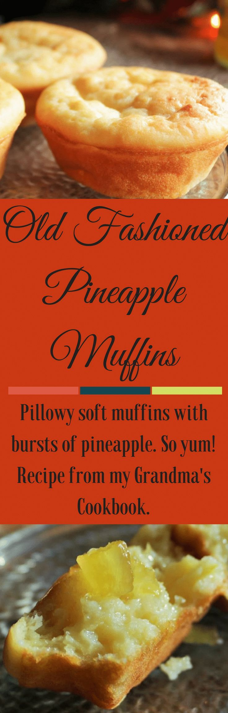 Old Fashioned Pineapple Muffins are pillowy soft and tender. Burst of pineapplerecipes flavor wake up the flavor. Great plain, with butter or jam. #muffins #breakfasttime #breakfast #muffinrecipe #vintagerecipe #pineapplerecipes #easyrecipe