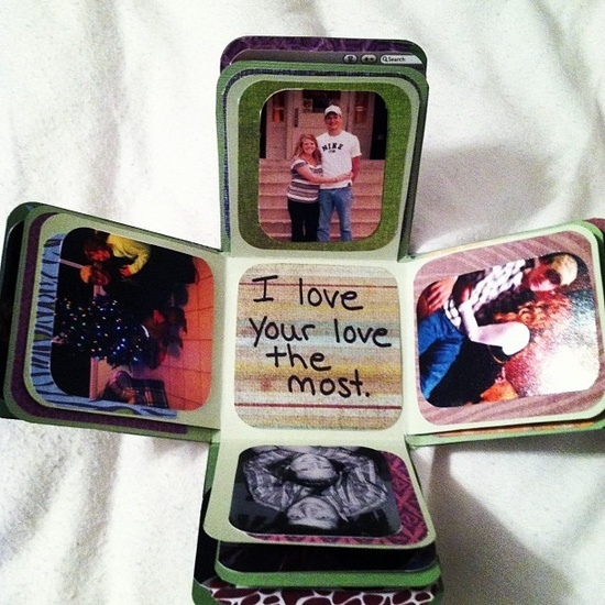 I love this explosion box. I made one for my ex boyfriend for our 4 month and he loved it!