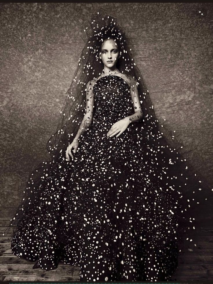 Starry dress - Photograph by Paolo Roversi for Vogue Italia September 2014 // Pinned by Dauphine Magazine x Castlefield - Curated by Castlefield Bridal & Branding Atelier and delivering the ultimate experience for the haute couture connoisseur! Visit www.dauphinemagazine.com, @dauphinemagazine on Instagram, and @dauphinemag on Pinterest • Visit Castlefield: www.castlefield.co and @ castlefieldco on Instagram / Luxury, haute couture, fashion, weddings, bridal, style, décor, travel, art…