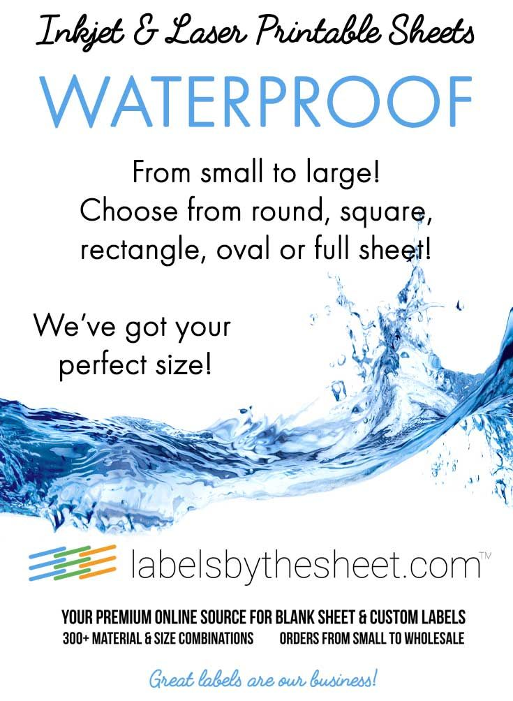 photo about Waterproof Printable Labels titled On the lookout for watertight labels? Overall look no even more! Weve received