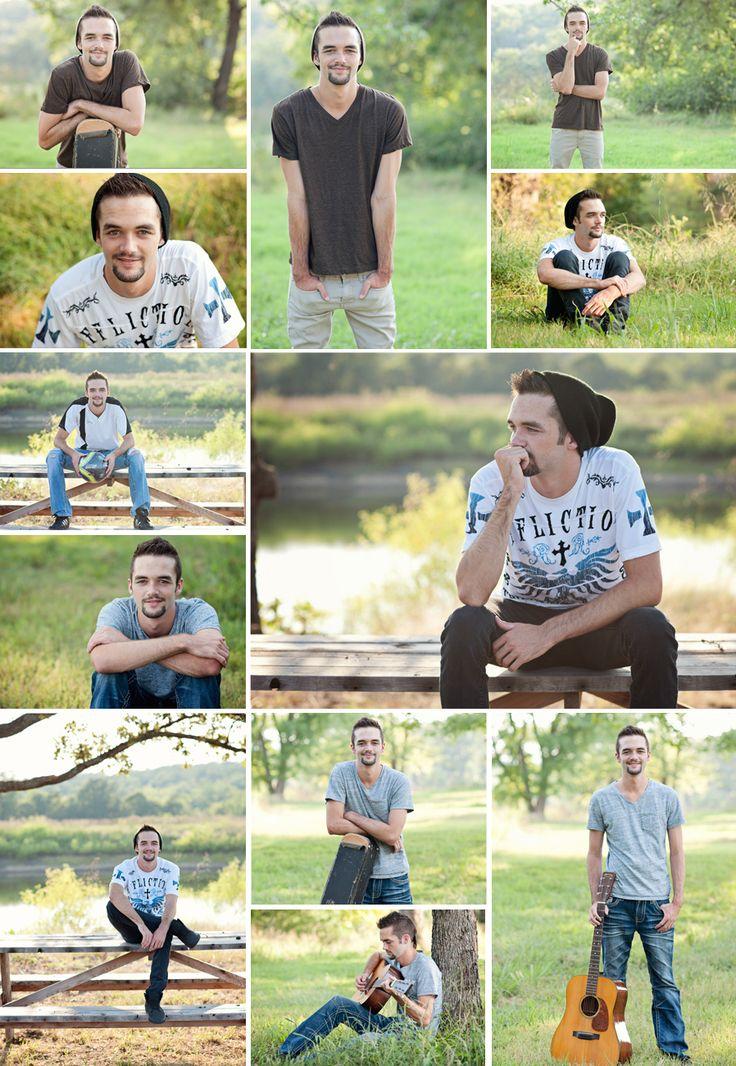 Senior Guy Poses and Props - photos by Ann Bennett Photography in Tulsa, OK #seniorguy #senior #seniorposes