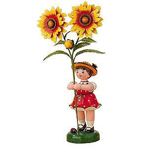 Blumenkind Mädchen mit Kokardenblume (24cm) von Hubrig Volkskunst