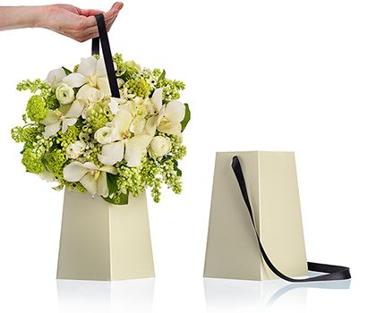 Floral packaging design and containers from Power Vase