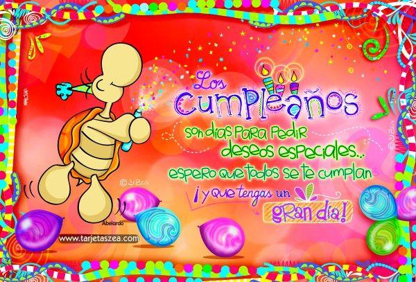 Los deseos de cumpleaños son especiales, regala esta tarjeta vía facebook, WhatsApp, instagram, email o más redes sociales a esa persona especial