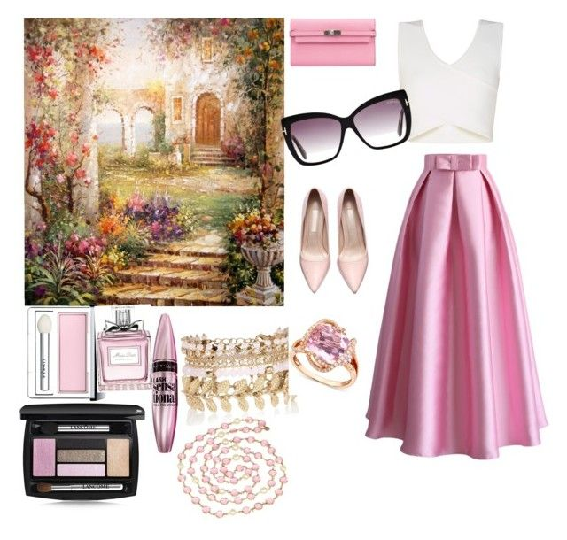 """Untitled #12"" by evelin-pap on Polyvore featuring BCBGMAXAZRIA, Chicwish, Hermès, Chanel, River Island, Clinique, Christian Dior, Maybelline, Lancôme and R.H. Macy's & Co."