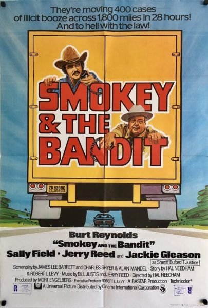 Smokey And The Bandit original 1977 UK One Sheet movie poster. Available to purchase from our website.