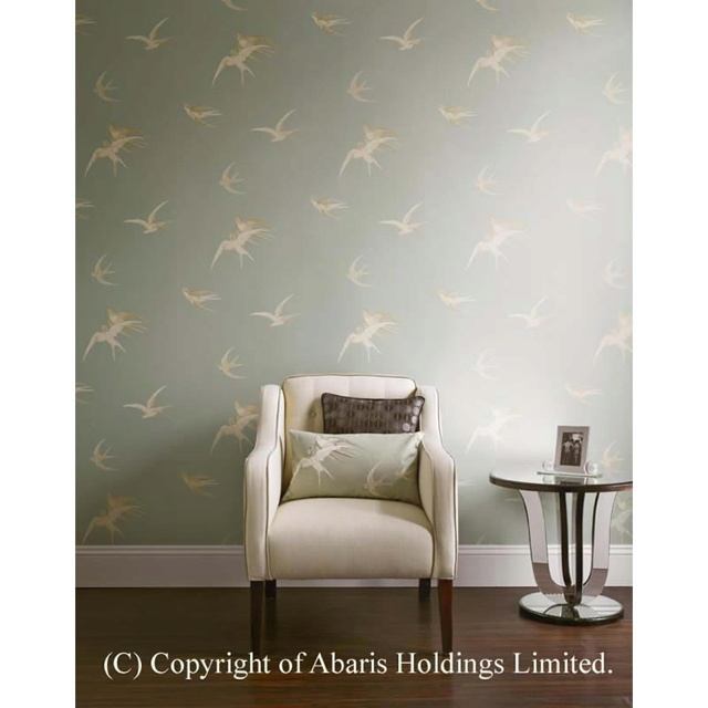 Sanderson swallow wallpaper living room is for living - Sanderson swallows wallpaper pebble ...