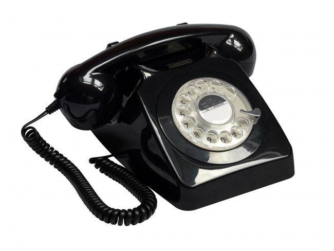 GPO 746 Draaischijf Zwart - Telefonie - 123platenspeler.nl