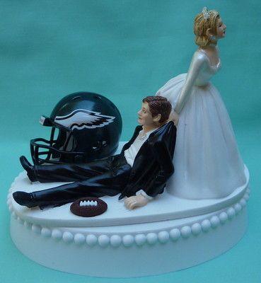Wedding Cake Topper Philadelphia Eagles Football Fans Themed, Garter Display Box on eBay!