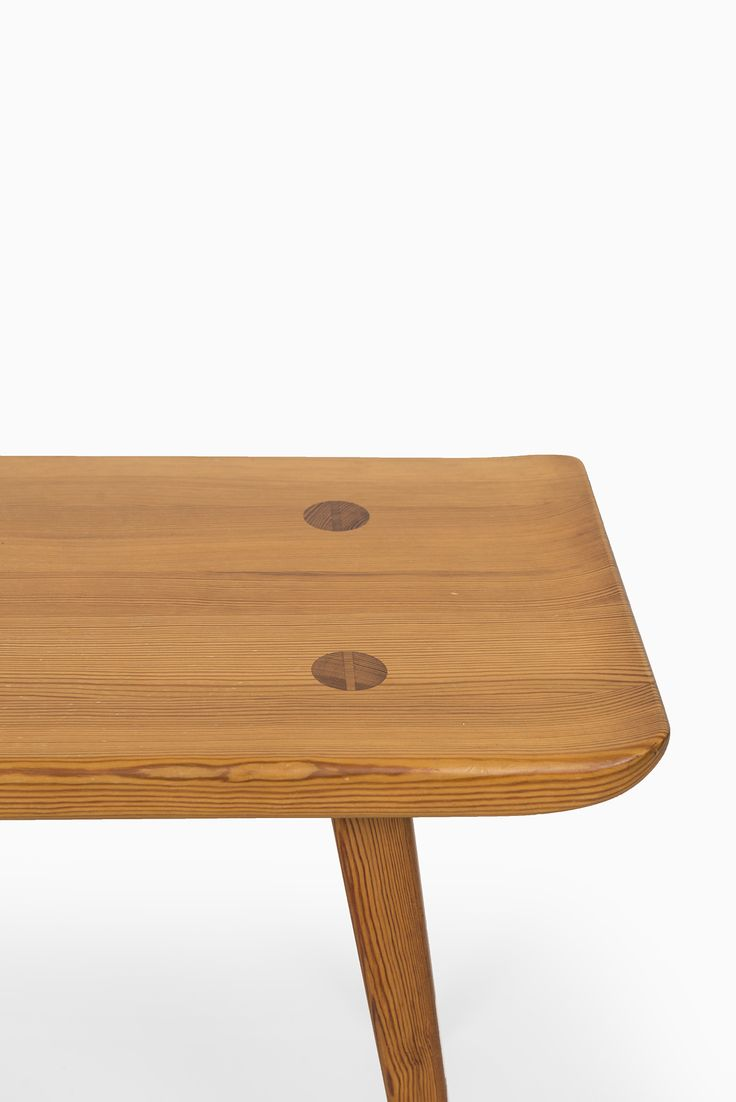 Carl Malmsten Bench In Pine By Svensk Fur At Studio Schalling