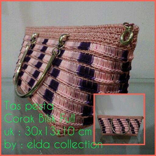Tas rajut jaring handmade by elda collection.. Pemakaian khusus pesta.. Order :  Line : eldaantya Wa : 085659279620