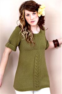 Womens Knitting Patterns Textured Tunic Pattern