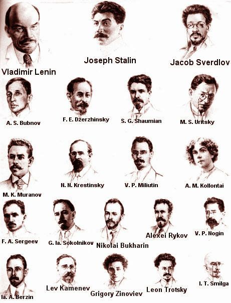 Bolshevik Politburo, fall of 1917 the leaders of the opposition. the only one's I've even heard of are Lenin Stalin and Trotsky