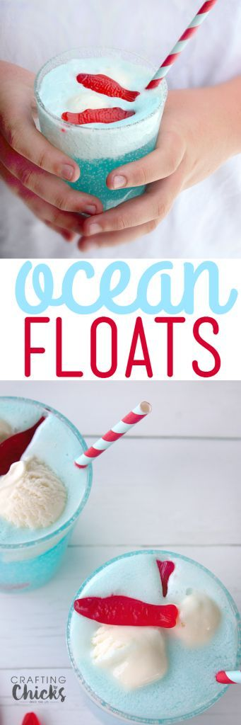 Fruity juice, lemon soda and ice cream are all you need to make our fizzy, festive and fun Ocean Floats!