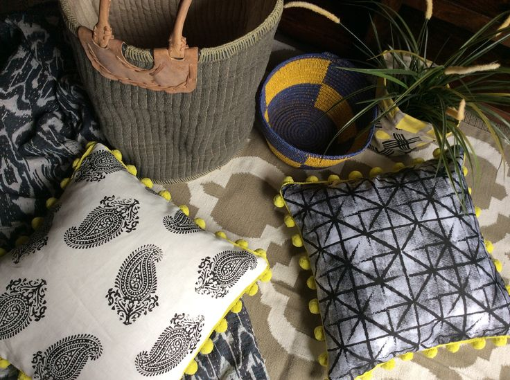 A neutral palette is what these cushions are all about, handprinted by me & made in melbourne, printed onto linen.