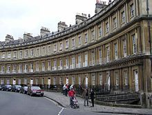 The Georgian architecture of The Circus, Bath, built between 1754 and 1768.
