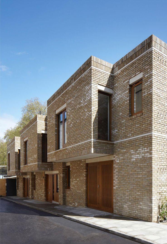 Wakefield st townhouses by piercy company types for Modele maison de ville contemporaine