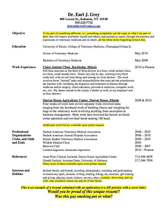 Vet Tech Sample Resume - http\/\/resumesdesign\/vet-tech-sample - agriculture resume
