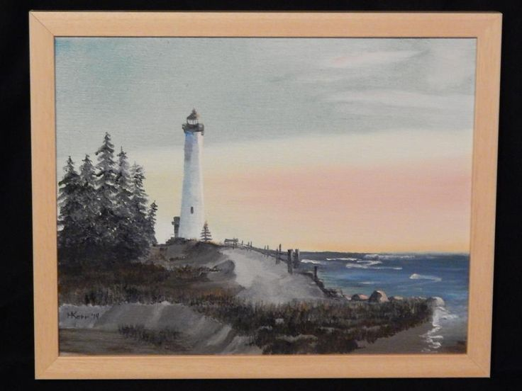 Clear Point, MI. Light House at Sunset