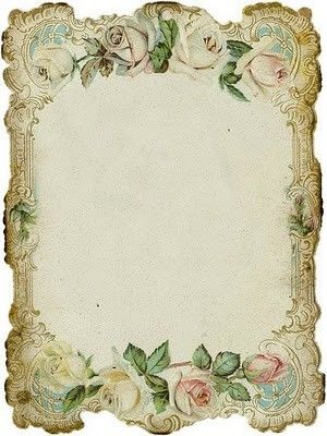 vintage #roses  Looks like a Victorian place card. I remember seeing many, not at a table, rather in my Grandmother's Bible